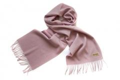 Шерстяной шарф, мужской пудровый 16401