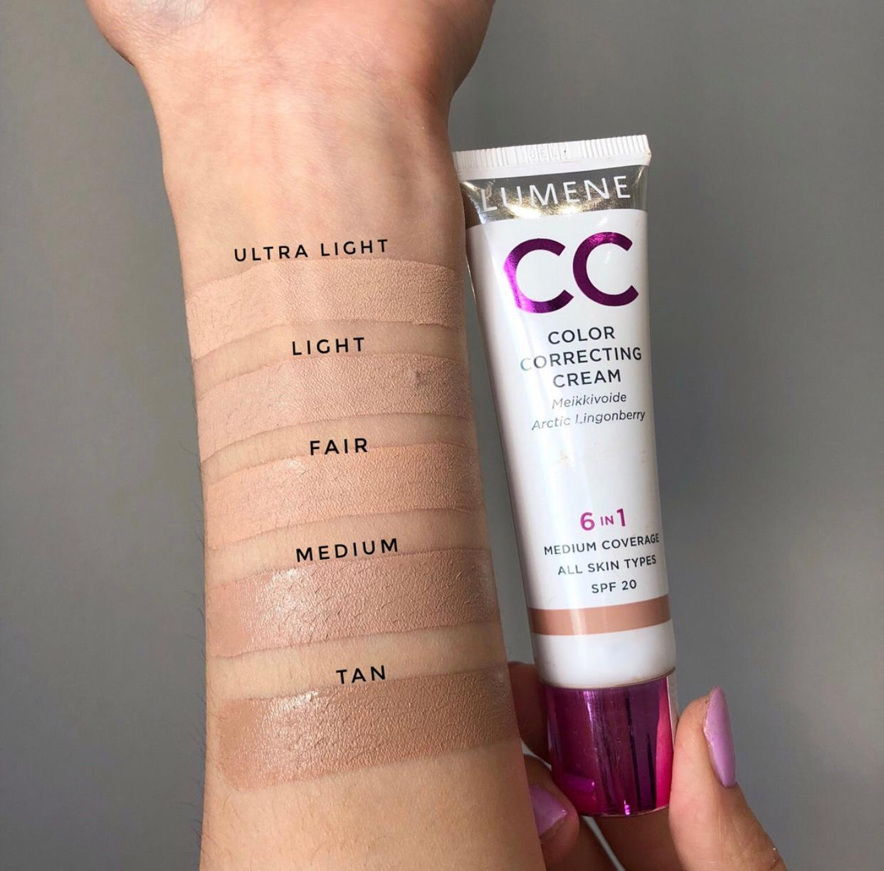 lumene cc cream ultra light