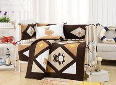 Комплект постельного белья  в кроватку с бортиком ТМ Вальтери Россия DK-24