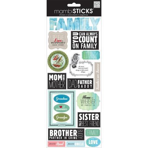 Стикеры mambi Specialty Stickers Mixed Family 13х30 см