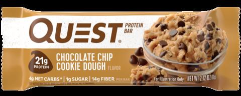 Протеиновые батончики Quest Bar Chocolate Chip Cookie Dough (Печенье с кусочками шоколада),1 шт