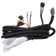Комплект проводов с разъёмом, кнопкой, реле, предохранителем для фар 6 - 80 светодиодов