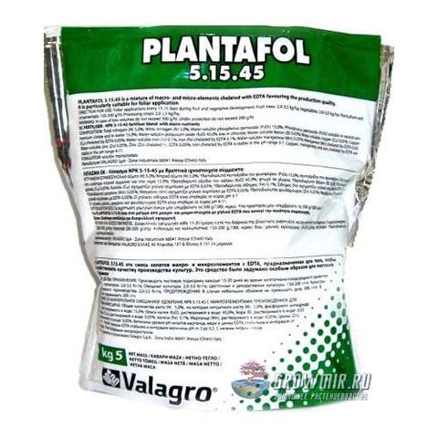 Valagro Plantofol 5-15-45 - 100 гр. Италия