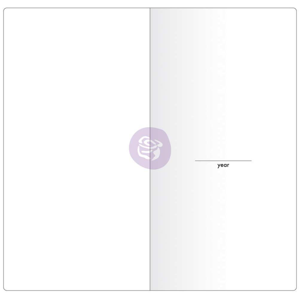Внутренний блок для блокнотов -Prima Traveler's Journal Notebook Refill - Monthly W/White Paper