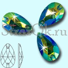Купите стразы пришивные Drope Emerald AB для художественной гимнастики оптом