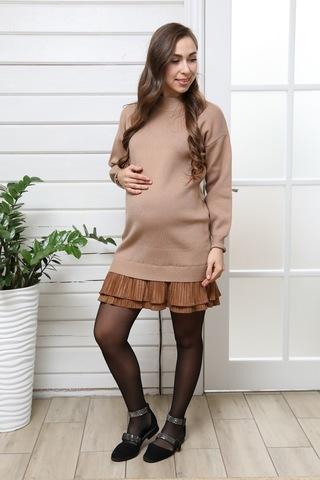 Платье для беременных 11329 коричневый