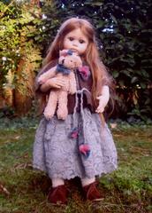 Кукла фарфоровая коллекционная Marigio Azzurrina