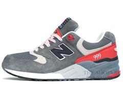 Кроссовки Мужские New Balance 999 Grey White Red