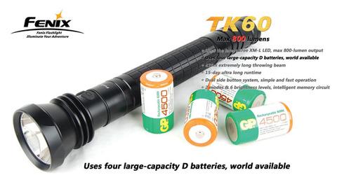 Фонарь Fenix TK60 (Cree XM-L, 800лм, 4 x D)