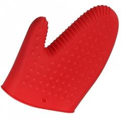 Варежка-прихватка термостойкая силиконовая ВЕ-0238S красная