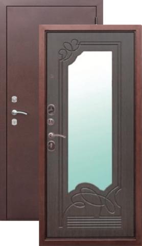 Дверь входная Страж G30 Ольга, 2 замка, 1,5 мм  металл, (медь антик+венге)