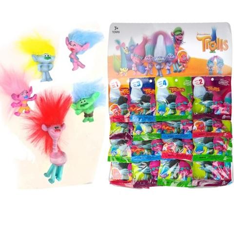 Коллекция игрушек на блистере  Тролли 4 . 1кор*1бл*16 шт.