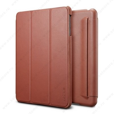 Чехол SGP для Apple iPad Mini 3/ 2/ 1 - - SGP Leather Case Leinwand Vegetable Brown SGP09652