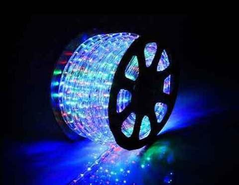 Дюралайт светодиодный, чейзинг, 13мм - 3 жилы - 36 led/m, Мультицветный - 100м