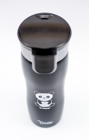 Термокружка el Gusto «Панда. Be happy!» черная 470 мл
