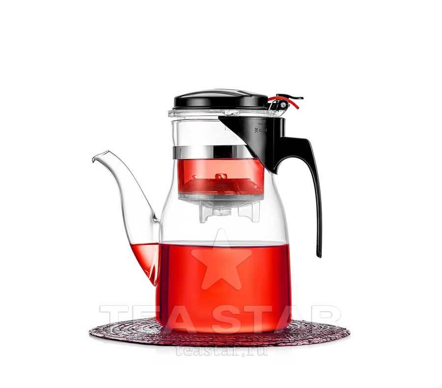 Типоды, Гунфу чайники Чайник заварочный гунфу с фильтром и клапаном, типод teapot-tipod-800-600ml-teastar.jpg