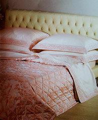Покрывало 270х270 и две подушки Caleffi Vivaldi розовое