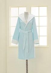 NEHİR - НЕГИР бирюзовый бамбуковый женский халат Soft Cotton (Турция)