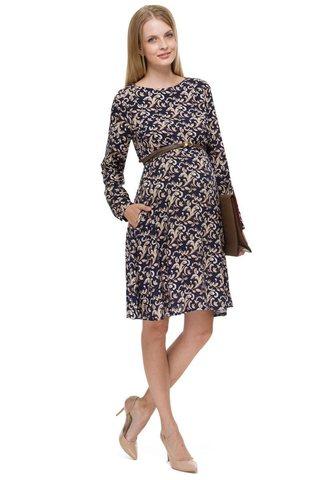 Платье 08237 темно-синий