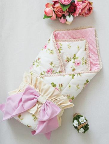 Демисезонное одеяло - конверт на выписку Шебби