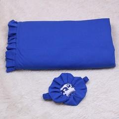 Яркий летний конверт на выписку Богемия (синий)