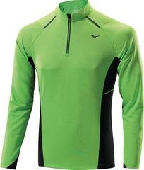 Мужская беговая рубашка Mizuno Warmalite 1/2 Zip LS Tee green (J2GA4516 34)