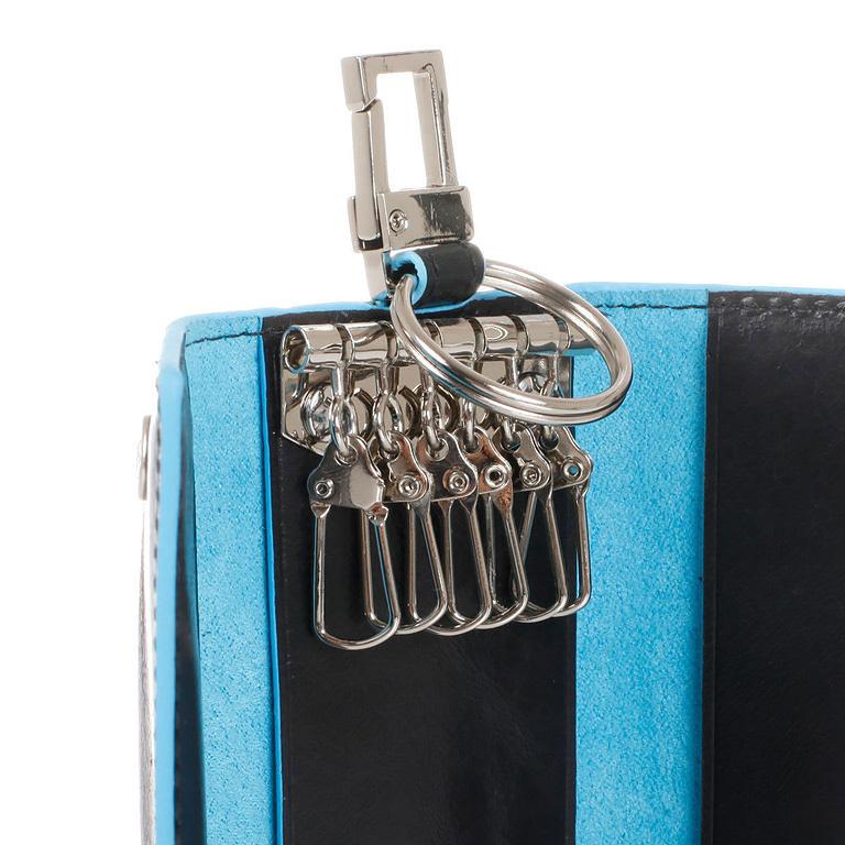 Ключница Piquadro Blue Square, цвет синий, 6х12х2 см (PC1397B2/BLU2)