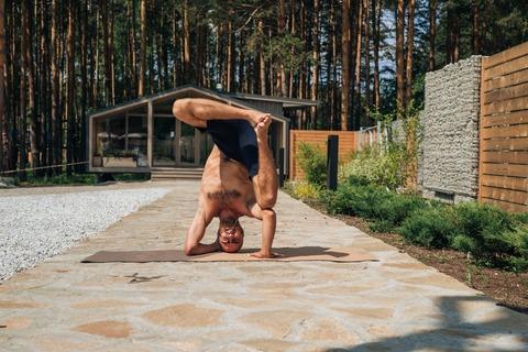 Пробковый коврик для йоги Due 183*61*0,3см