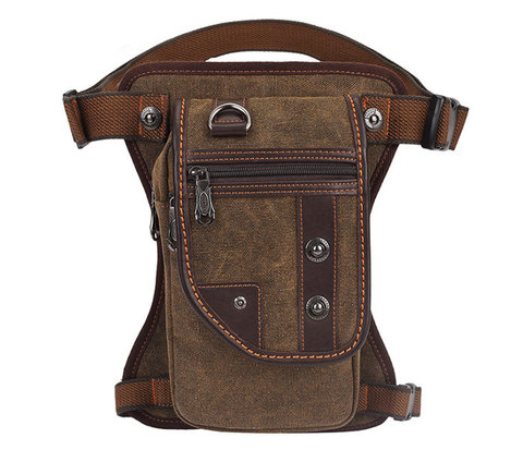 Удобная набедренная мужская сумка из ткани