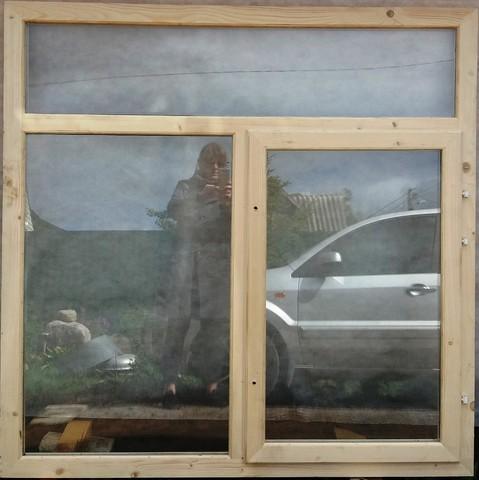 Окно 1.5х1.5 метра трехсекционное с одной открывающейся створкой