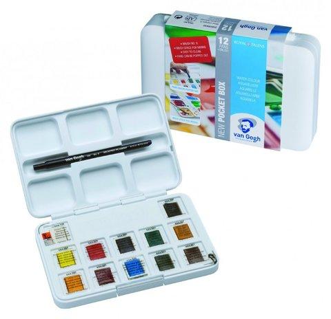 Набор акварельных красок Van Gogh 12цв в пластиковой коробке