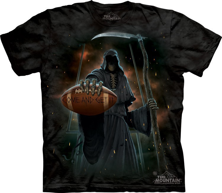 Футболка Mountain с изображением смерти с мячом - Come & Get It