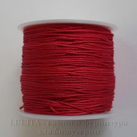Нейлоновый шнур 1 мм (цвет - красный) 35 м