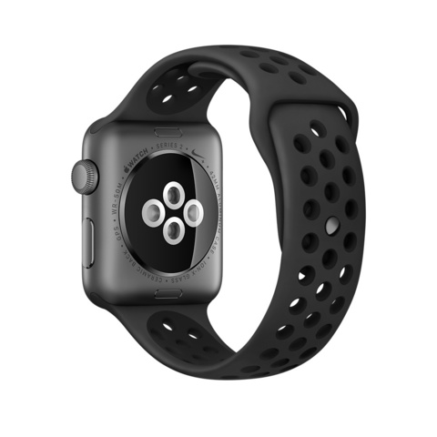 Ремешок Apple watch 42/44mm Sport Nike /anthracite black/ черный