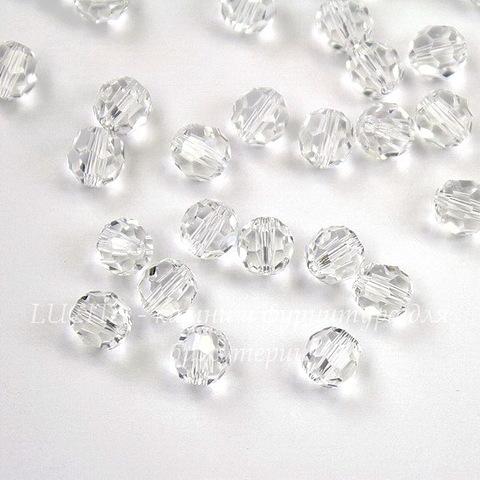 5000 Бусина - шарик с огранкой Сваровски Crystal 6 мм