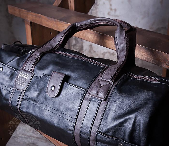 BAG408-1 Стильная мужская сумка из кожи с ремнем на плечо фото 03