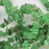 Бусина Авантюрин, крошка, цвет - зеленый, 4-7 мм, нить 84-86 см