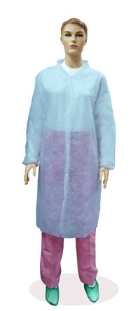 Халат медицинский на кнопках голубой 20 гр./м2