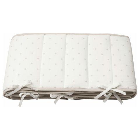 ЛЕНАСТ Мягкий бортик, точечный, белый серый, 60x120 см