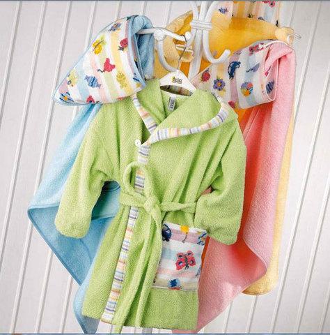 Элитный халат детский шенилловый Jou Jou голубой от Feiler