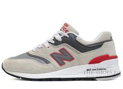 Кроссовки Мужские New Balance 997 Grey Red White