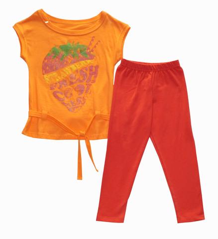 Basia 13-709-017П  Комплект для девочки туника+бриджи  оранжевый