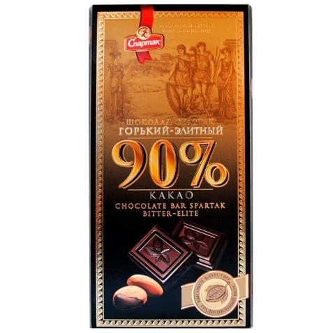 """Шоколад горький-элитный 90% """"Спартак"""" 90г"""