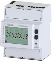 Счетчик энергии 1 / 5А 3-х фазный 3/4 провода 4 DIN
