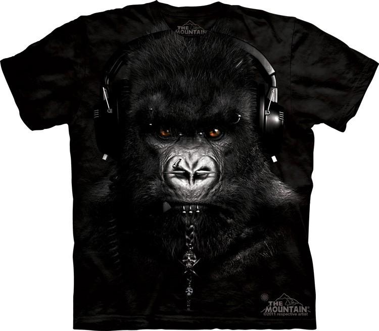 Футболка Mountain с изображением гориллы диджея - DJ Caesar