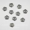 """Шапочка для бусины """"5 завитков"""" (цвет - античное серебро) 10х4 мм, 10 штук"""
