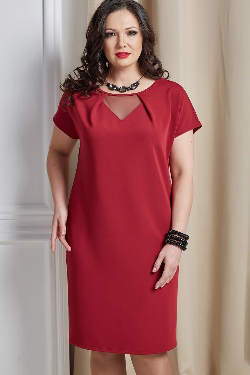 Платья Платье Инесса бордовый 1226.jpg