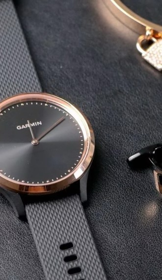 Vivomove HR Sport розовое золото с черным ремешком
