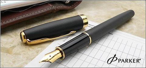 S0817930 Parker Sonnet Matte Black GT Перьевая ручка