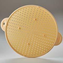 3 в 1: защитный экран, подставка и дуршлаг диам.28,5см силиконовый BE-0341S бежевый